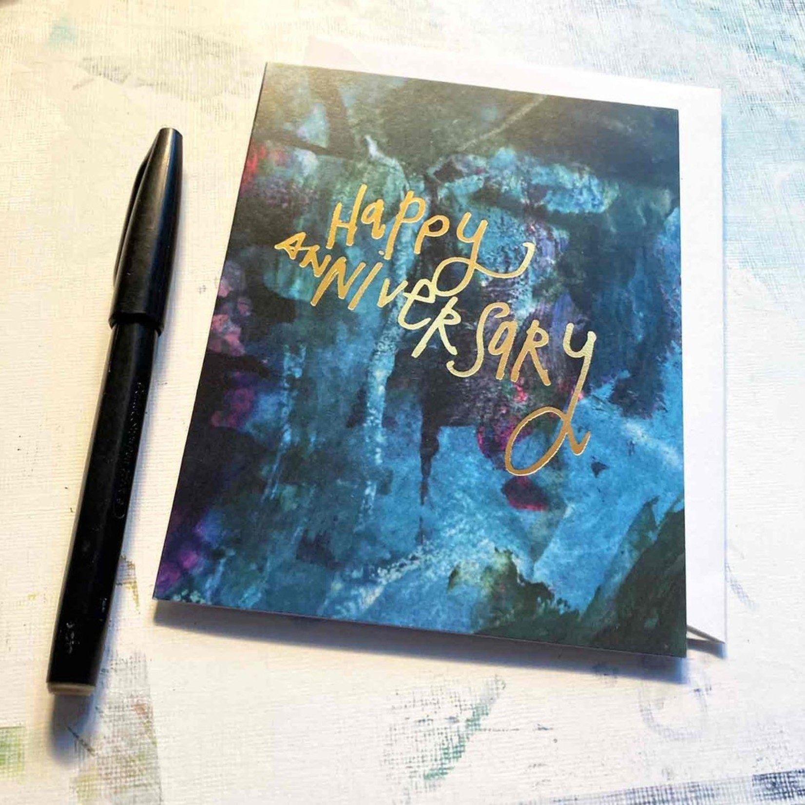 Hilary Meehan Art Products Happy Anniversary w/Gold Foil