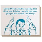 Guttersnipe Press Congrats Thing Card