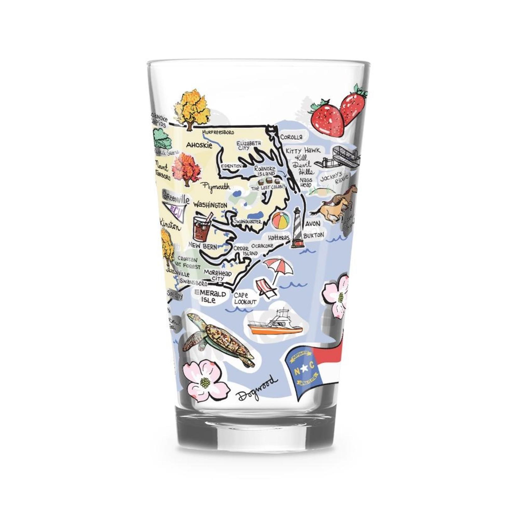 North Carolina Glass 12oz