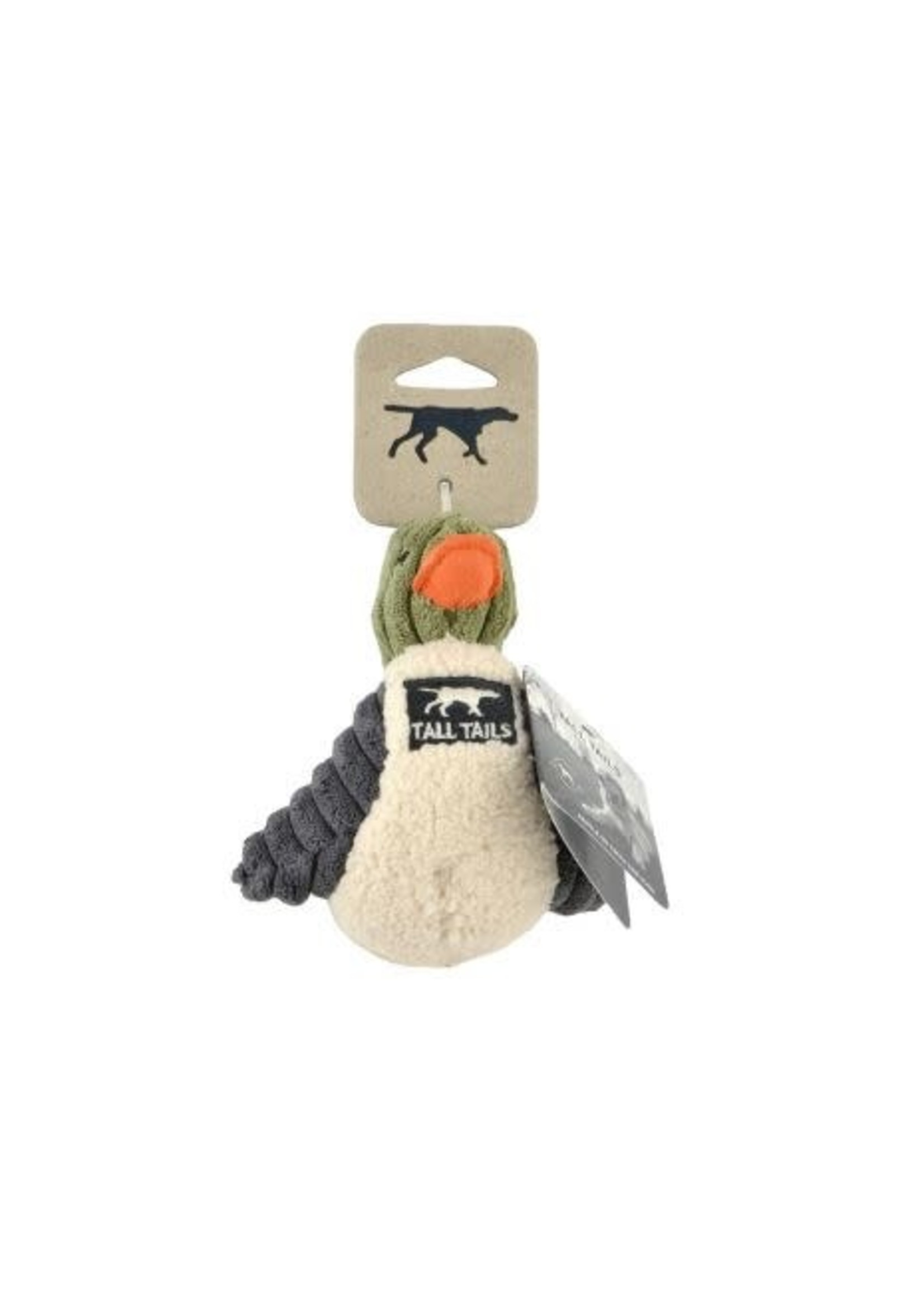 """Tall Tails Tall Tails Squeaker Duck Sage 5"""""""