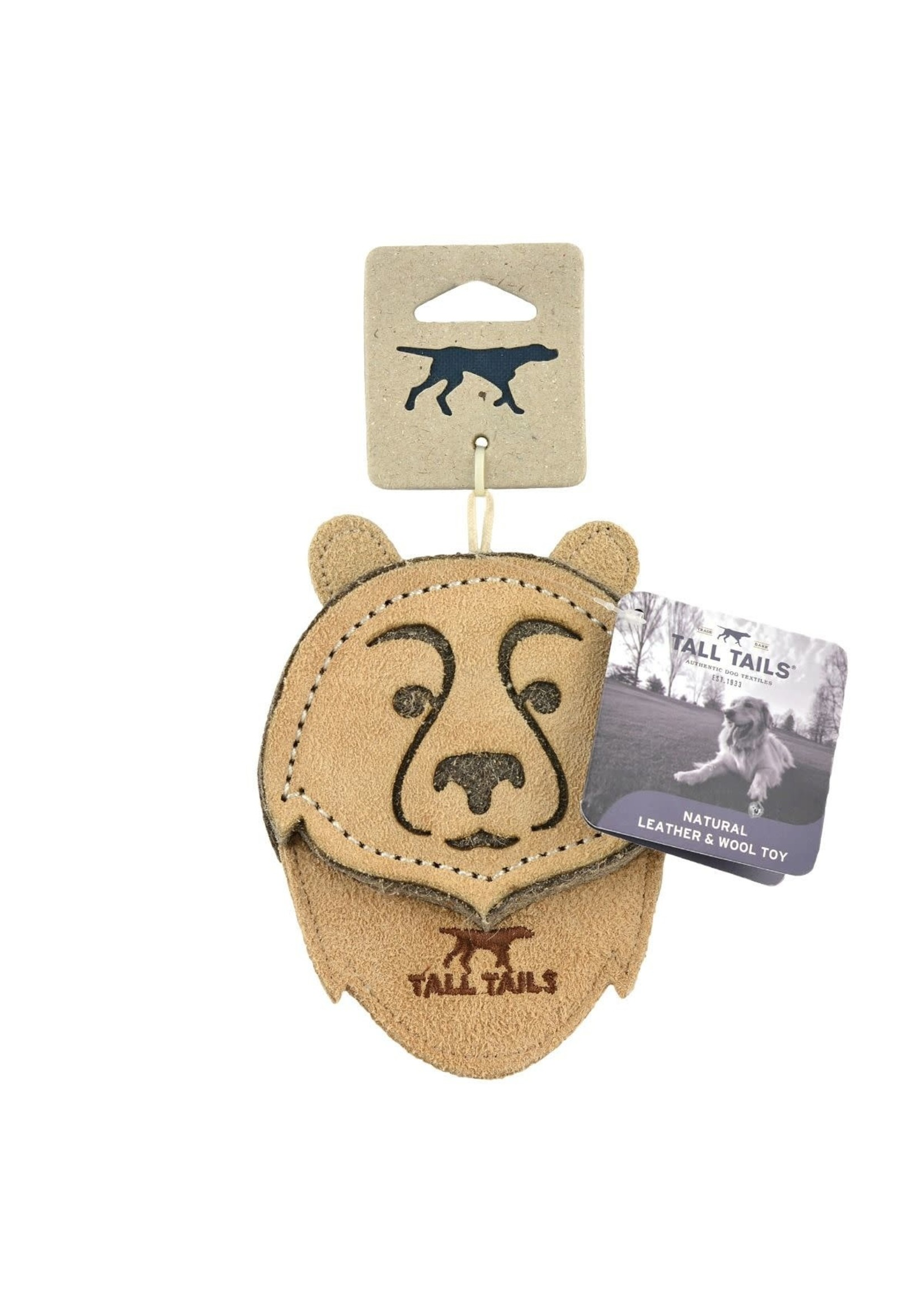 """Tall Tails Tall Tails Leather Bear 4"""""""