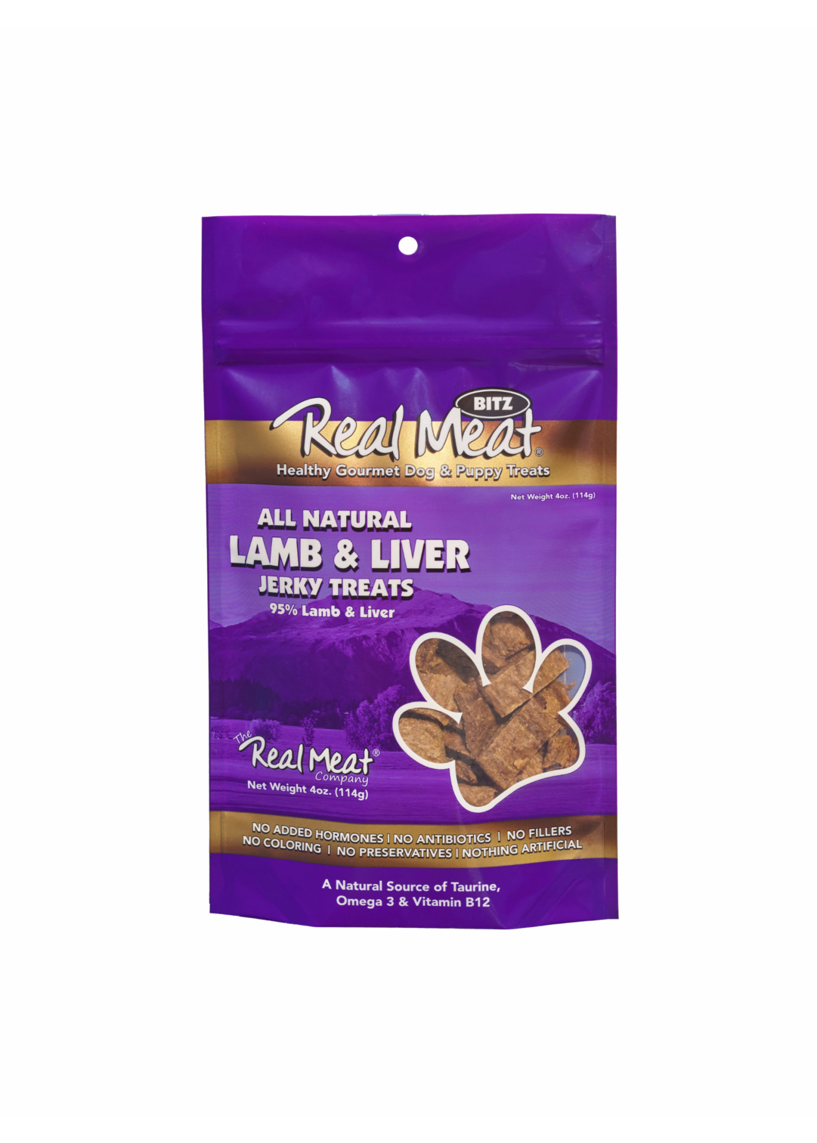 Real Meat Real Meat Canz Dog Lamb & Liver 4oz