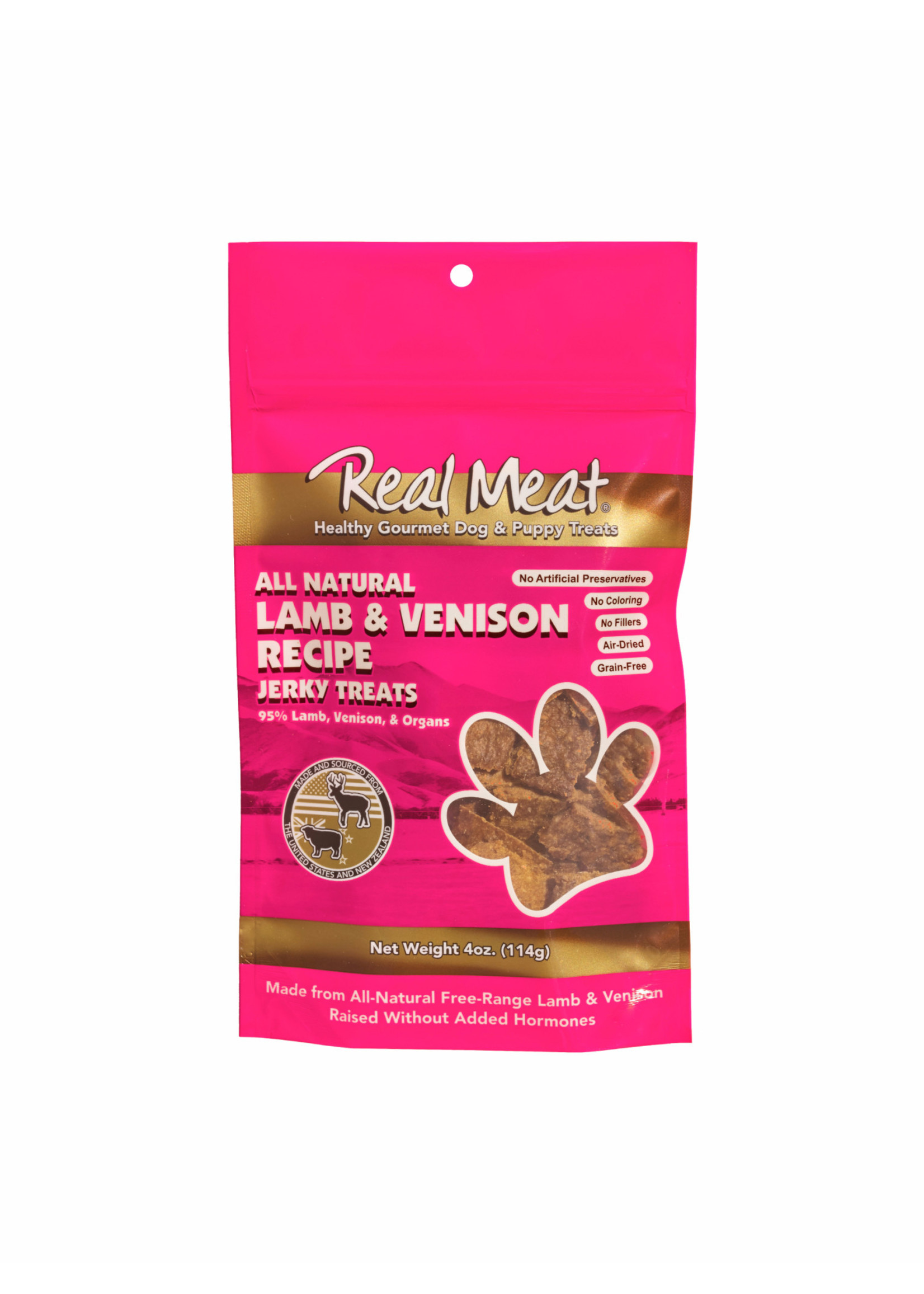 Real Meat Real Meat Canz Dog Venison & Lamb 4oz