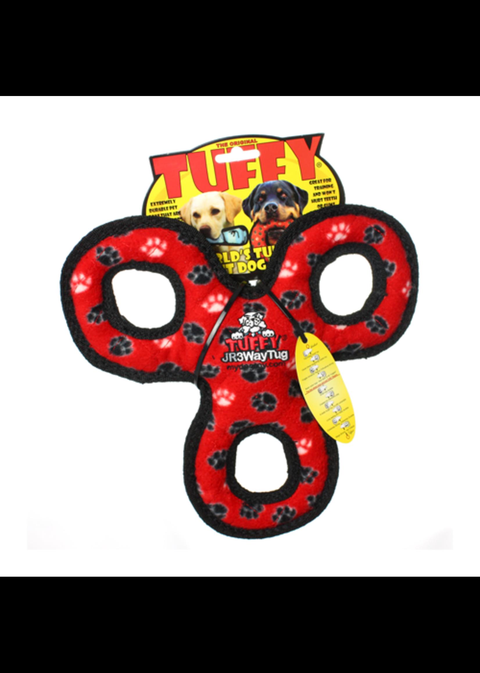 VIP Tuffy Jr 3 Way Tug Red Paw