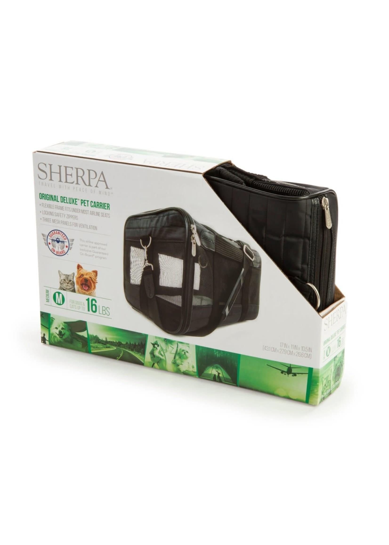 Sherpa Pet Sherpa Orig Deluxe Black Med