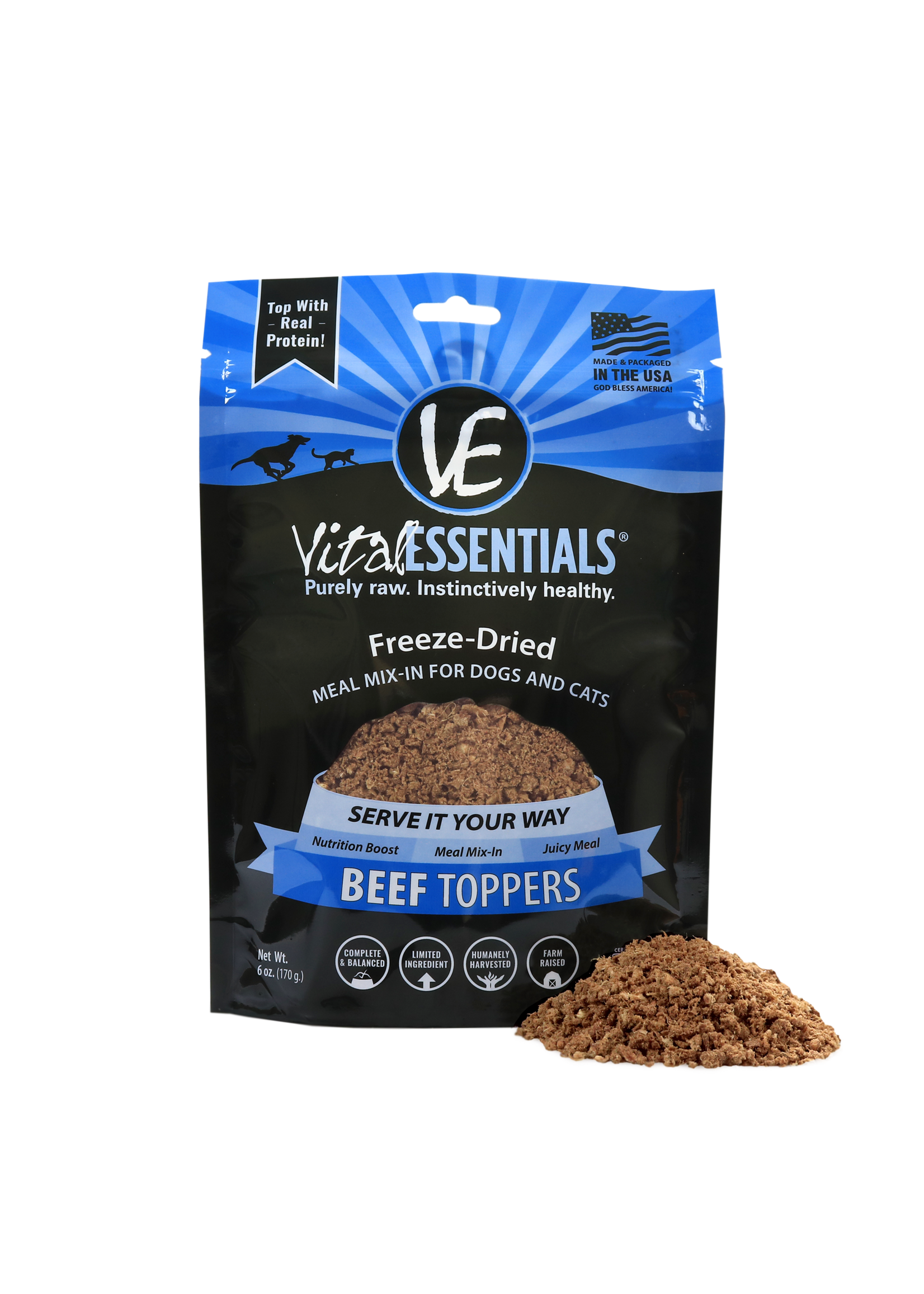Vital Essentials Vital Essentials FD Topper Beef 6 oz