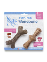 Benebone Benebone Puppy 2 pack Zaggler Bacon Maple Stick