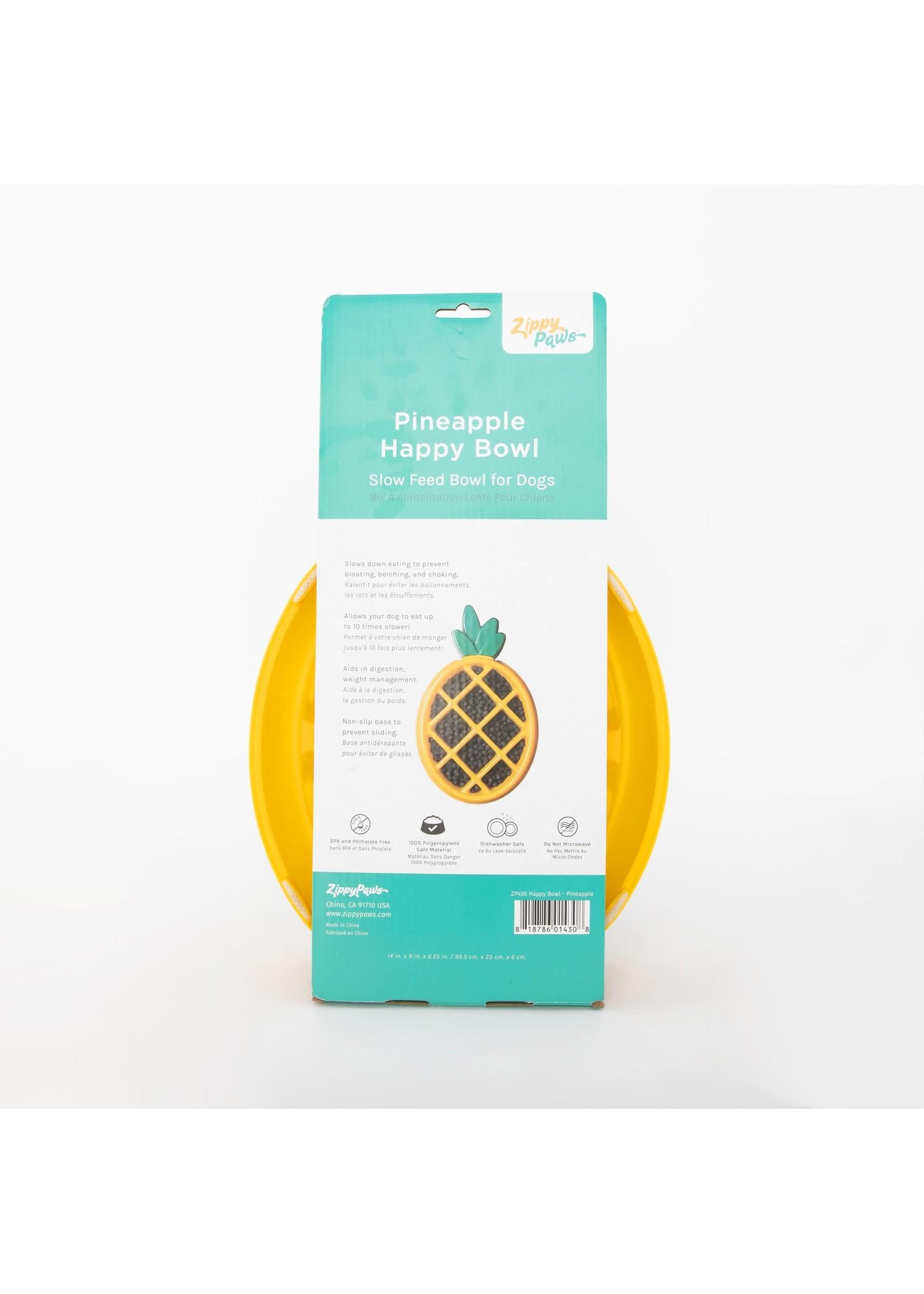 Zippy Slow Feed Bowl Pineapple