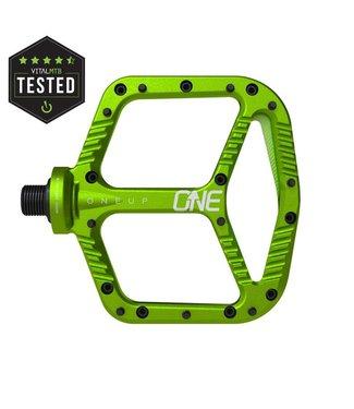 OneUp Components Aluminum Pedals - Green