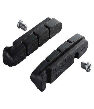 Shimano R55C4 CARTRIDGE-TYPE BRAKE SHOE & FIXING BOLTS, 1 PAIR