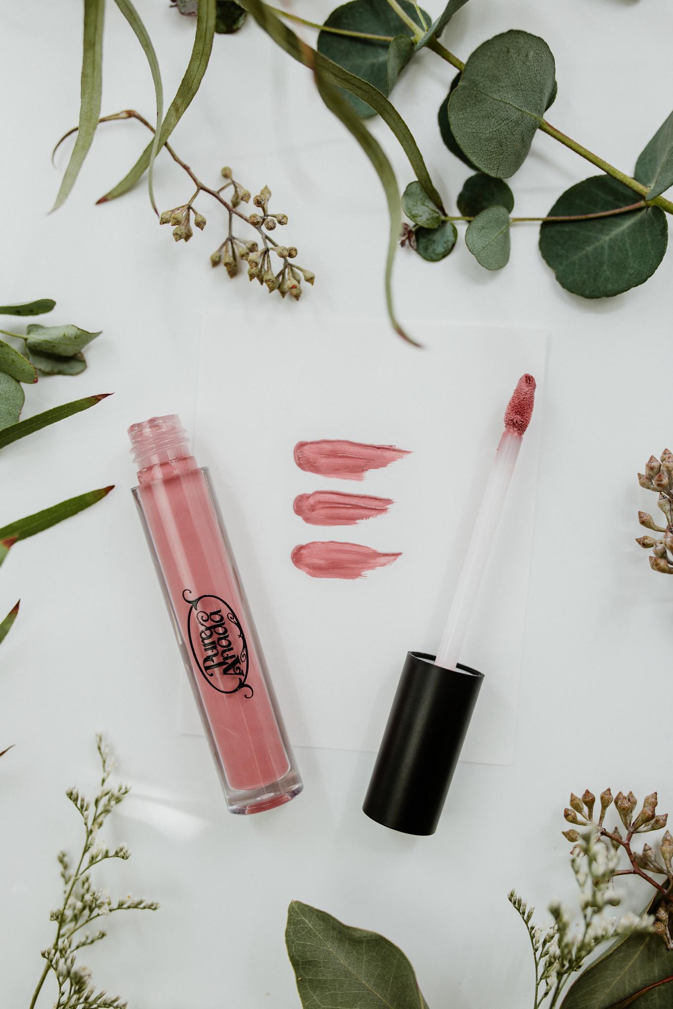 Exquisite Natural Lip Gloss - Plum (Matte)-2