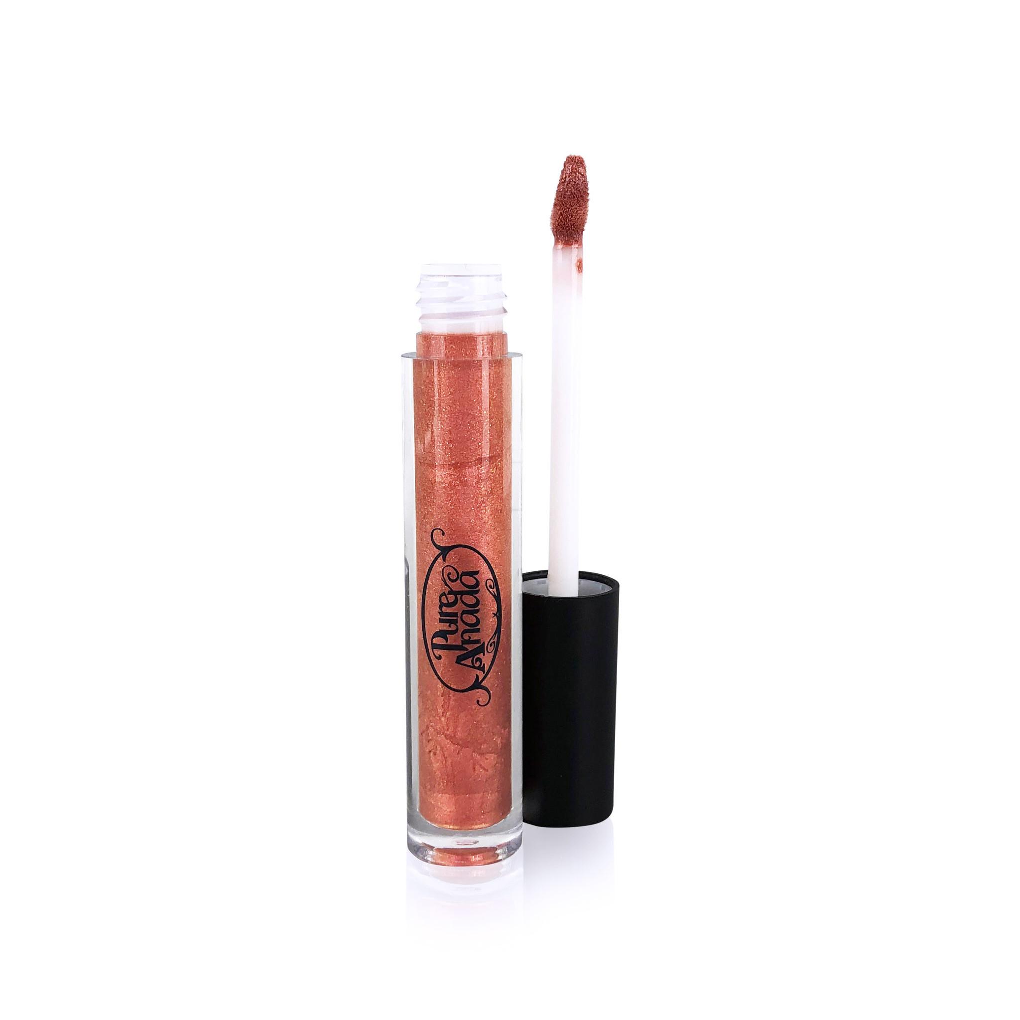 Glisten Mineral Lip Gloss - Rose Gold-2
