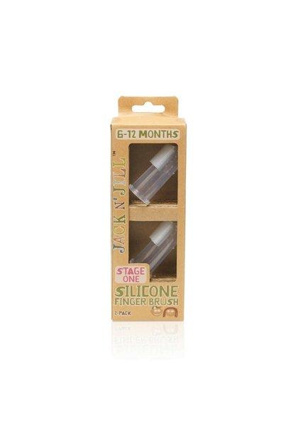 Silicone Finger Brush (2-pack + case)