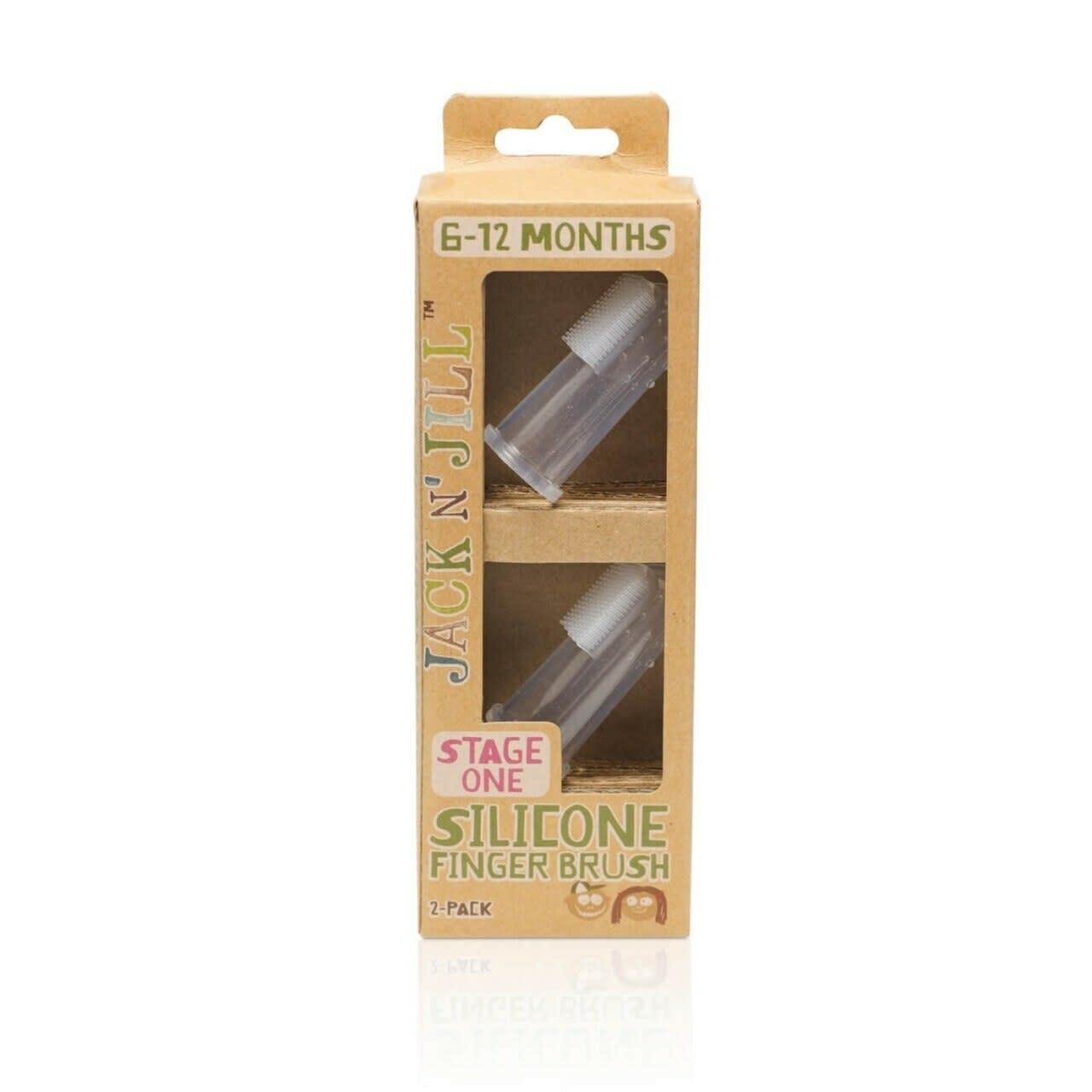 Silicone Finger Brush (2-pack + case)-1