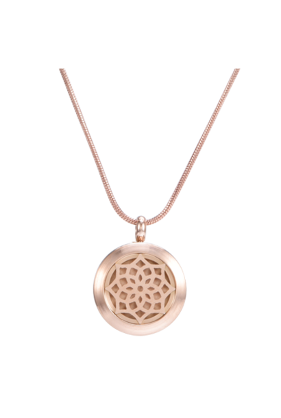 Blossom Rose Gold Aromatherapy Necklace