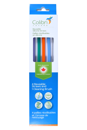 Reusable Silicone Straw (4pk + cleaner)-1
