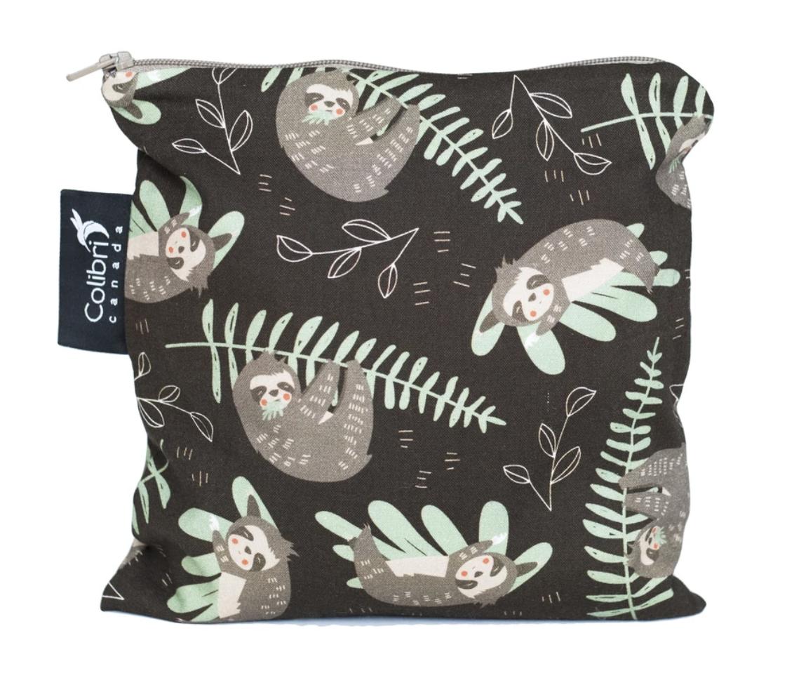 Sloths Reusable Snack Bag (large)-1