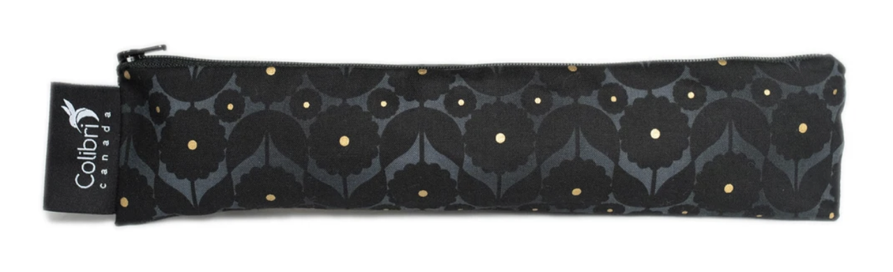 Midnight Flower Reusable Snack Bag (wide)-1