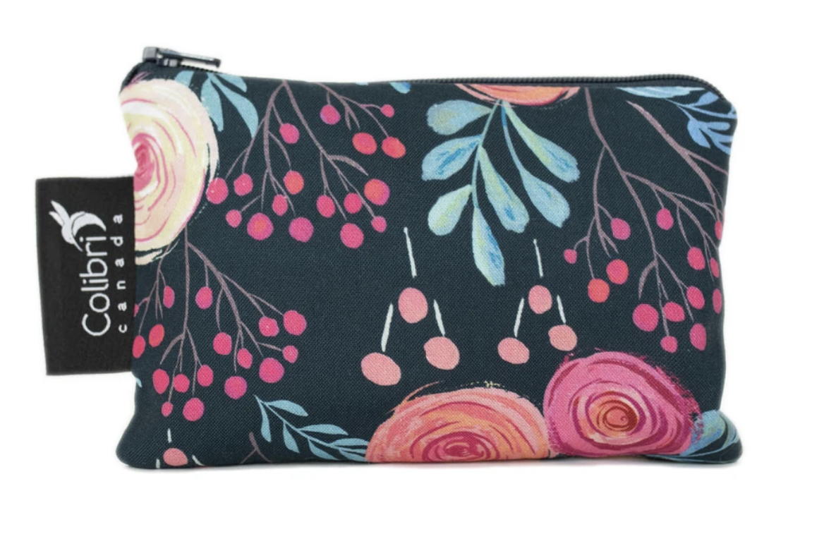 Roses Reusable Snack Bag (small)-1