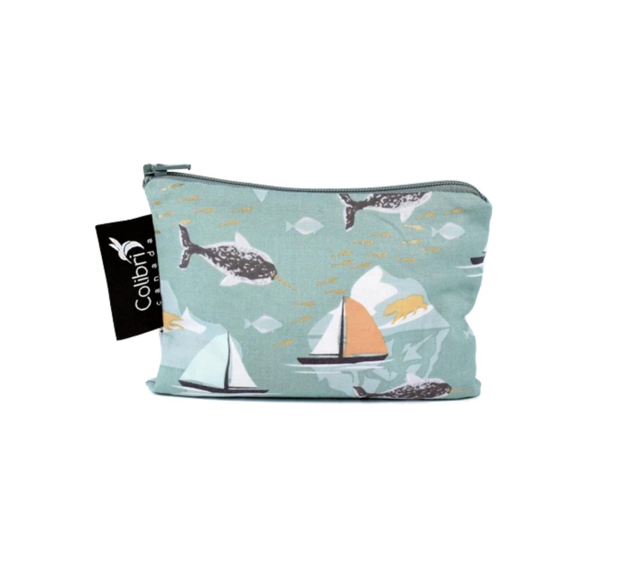 Narwhal Reusable Snack Bag (small)-1
