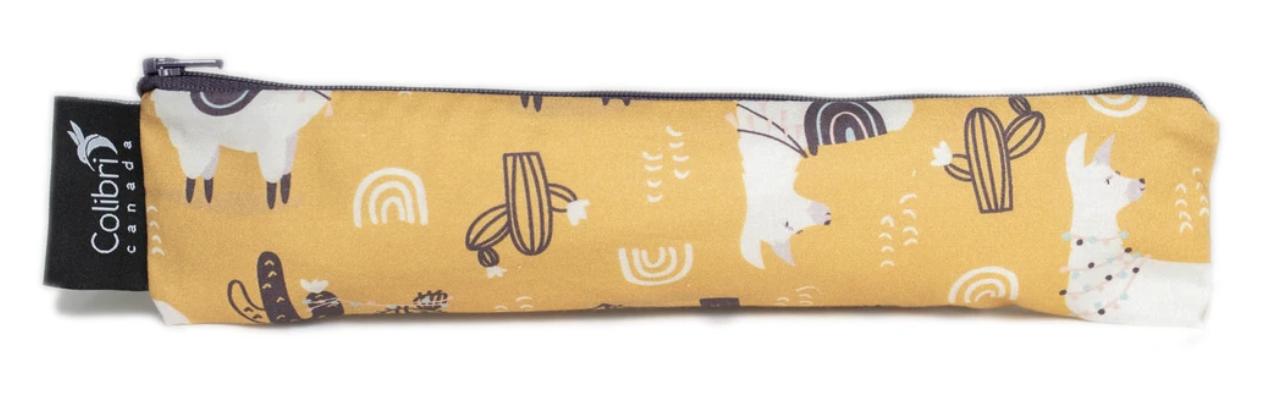 Llama Reusable Snack Bag (wide)-1