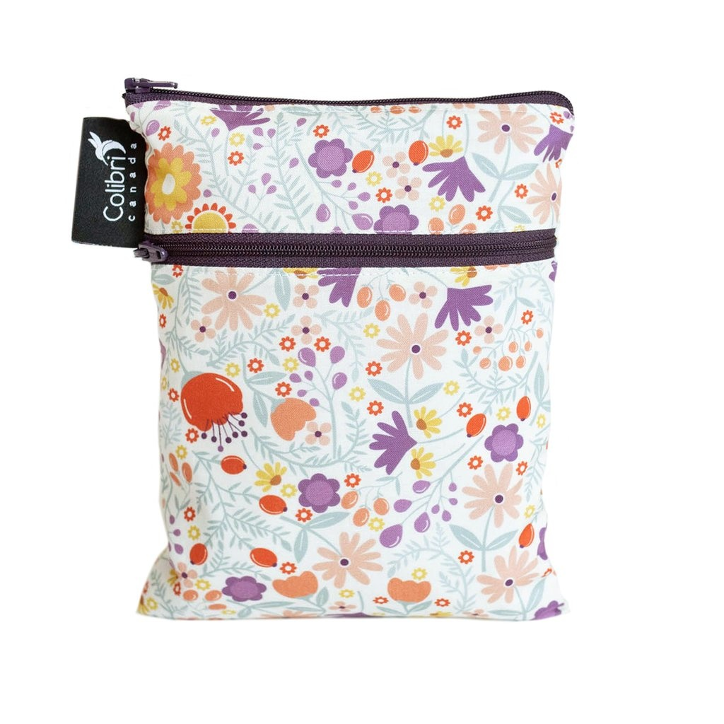 Wild Flowers Mini Double Duty Wet Bag-1