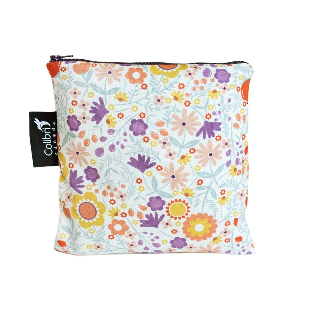 Wild Flowers Reusable Snack Bag (large)-1