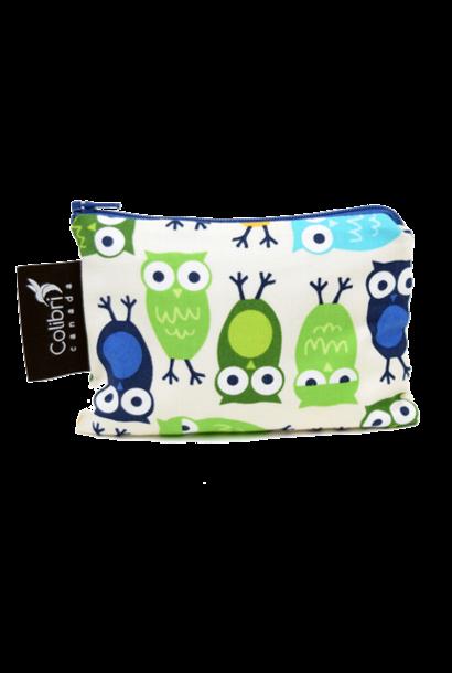 Owls Reusable Snack Bag (small)