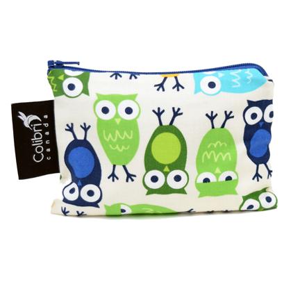 Owls Reusable Snack Bag (small)-1