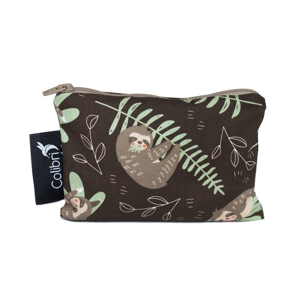 Sloths Reusable Snack Bag (small)-1