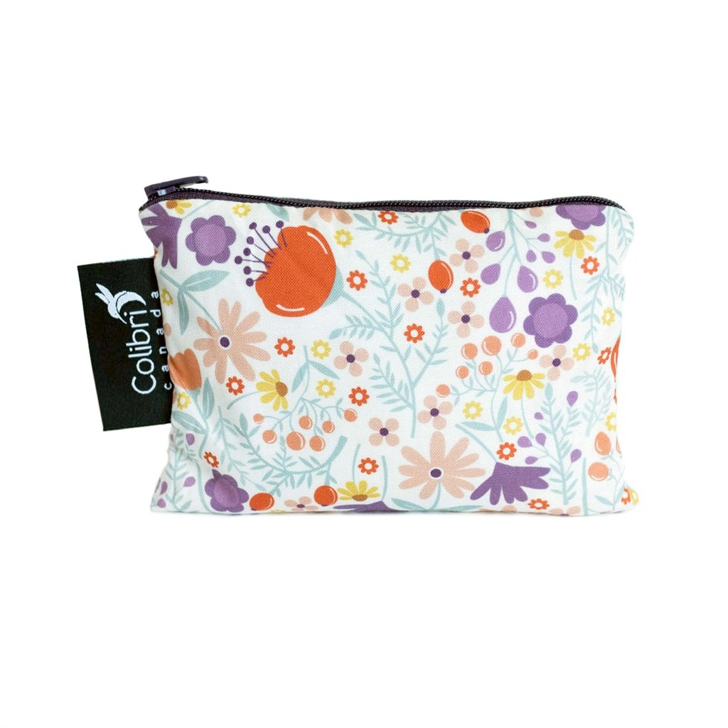 Wild Flowers Reusable Snack Bag (small)-1