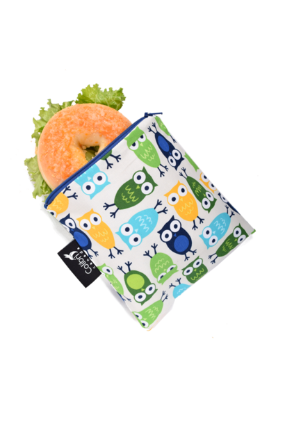Owls Reusable Snack Bag (large)
