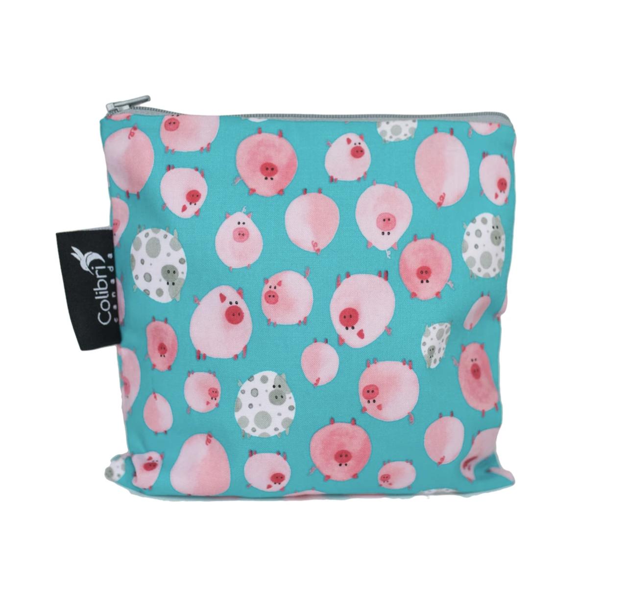 Oink Reusable Snack Bag (large)-1