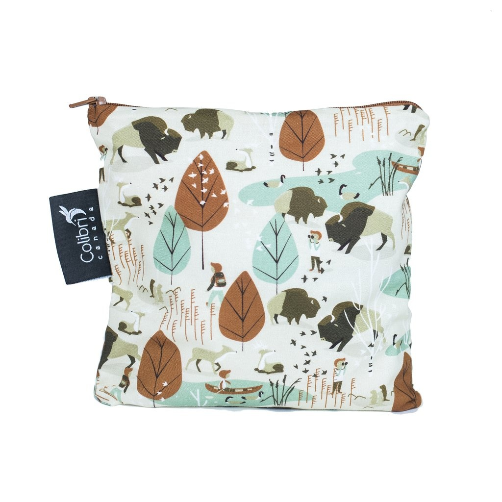 Nature Walk Reusable Snack Bag (large)-1