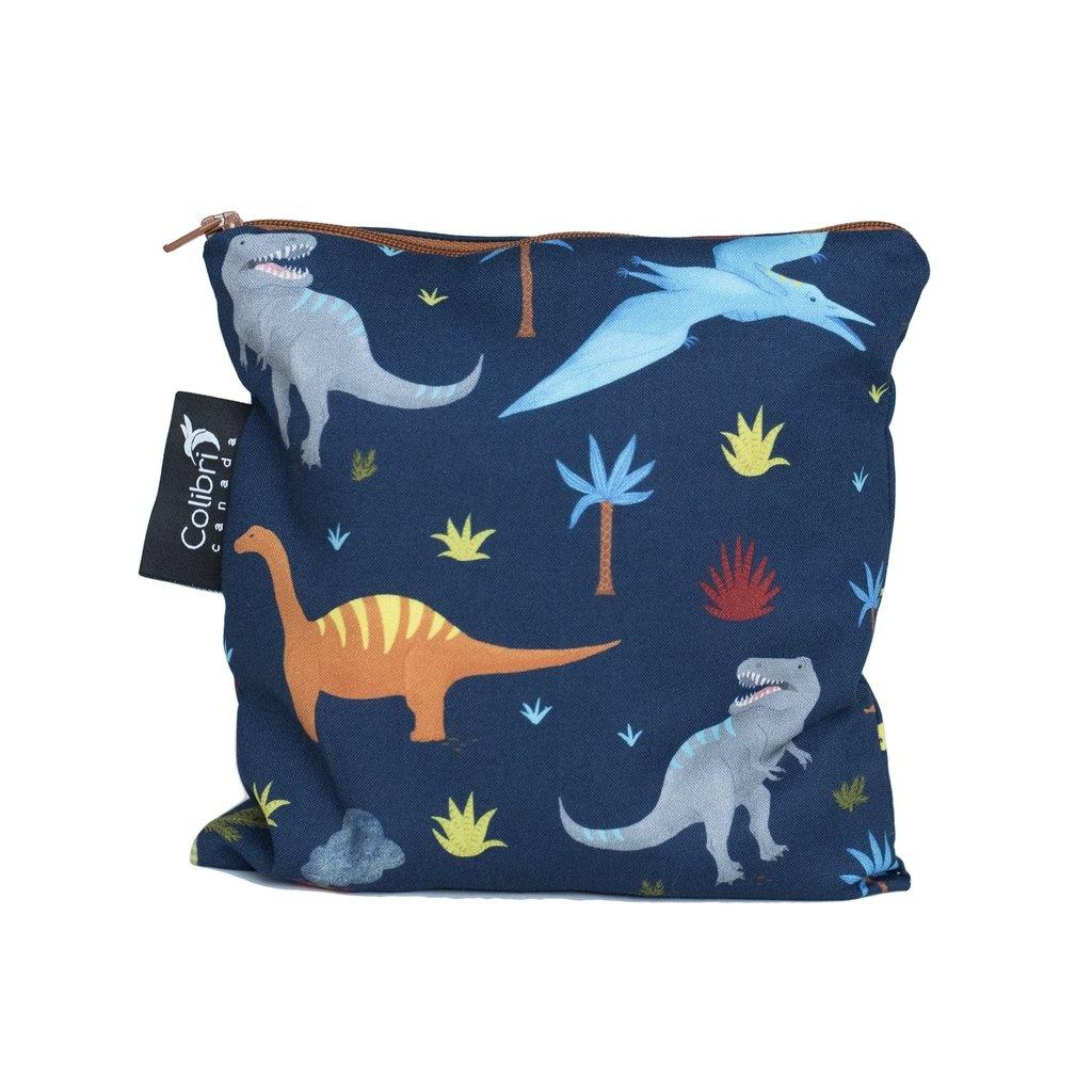 Dinosaurs Reusable Snack Bag (large)-1
