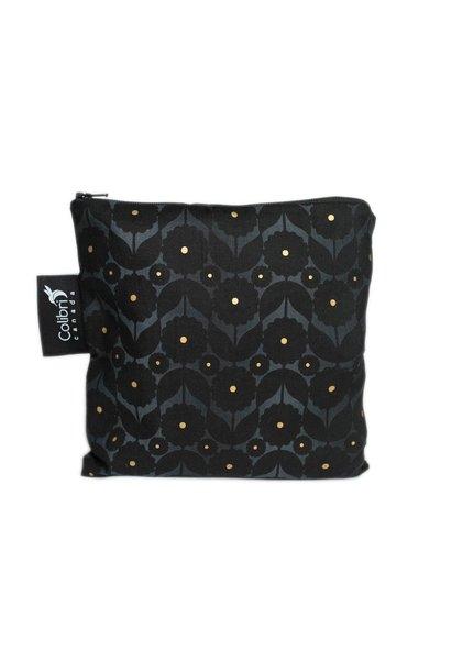 Midnight Flower Reusable Snack Bag (large)