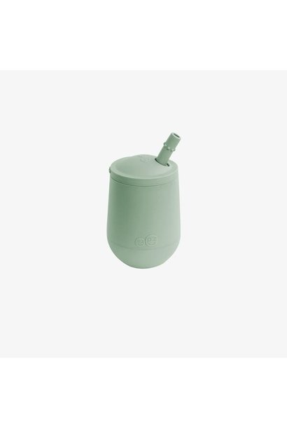 Mini Cup & Straw - Sage