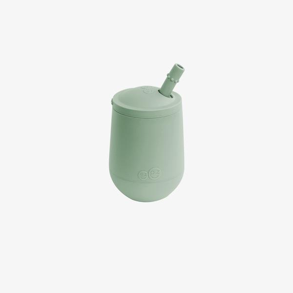 Mini Cup & Straw - Sage-1