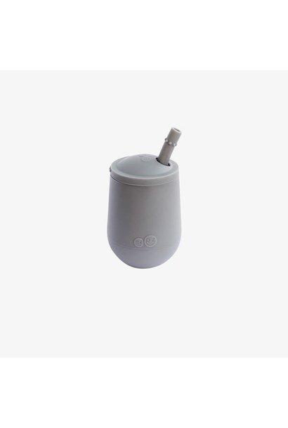 Mini Cup & Straw - Grey