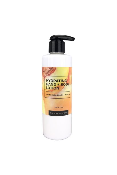 Hydrating Hand & Body Lotion - Cranberry, Peach and Vanilla