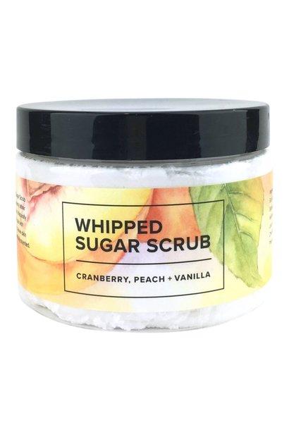 Whipped Sugar Scrub - Cranberry, Peach, and Vanilla
