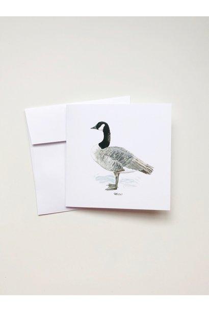 Watercolour Goose (5x5 Card/Frameable Art Print)