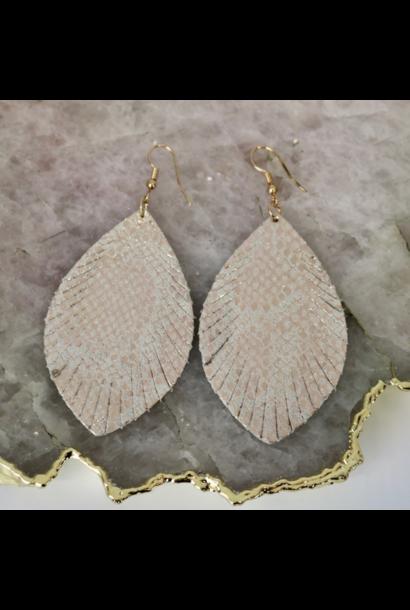 Earrings: Gold Snakeskin