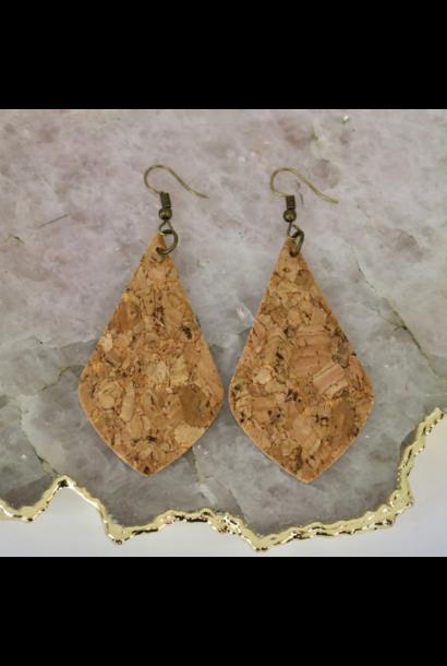 Earrings: Teardrop Cork