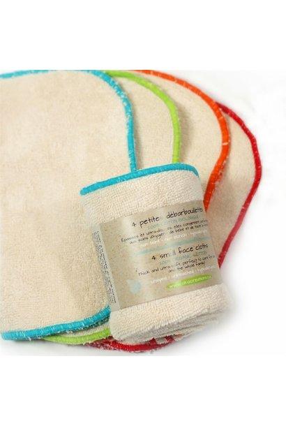 Small Organic Face Cloths (4 pk)