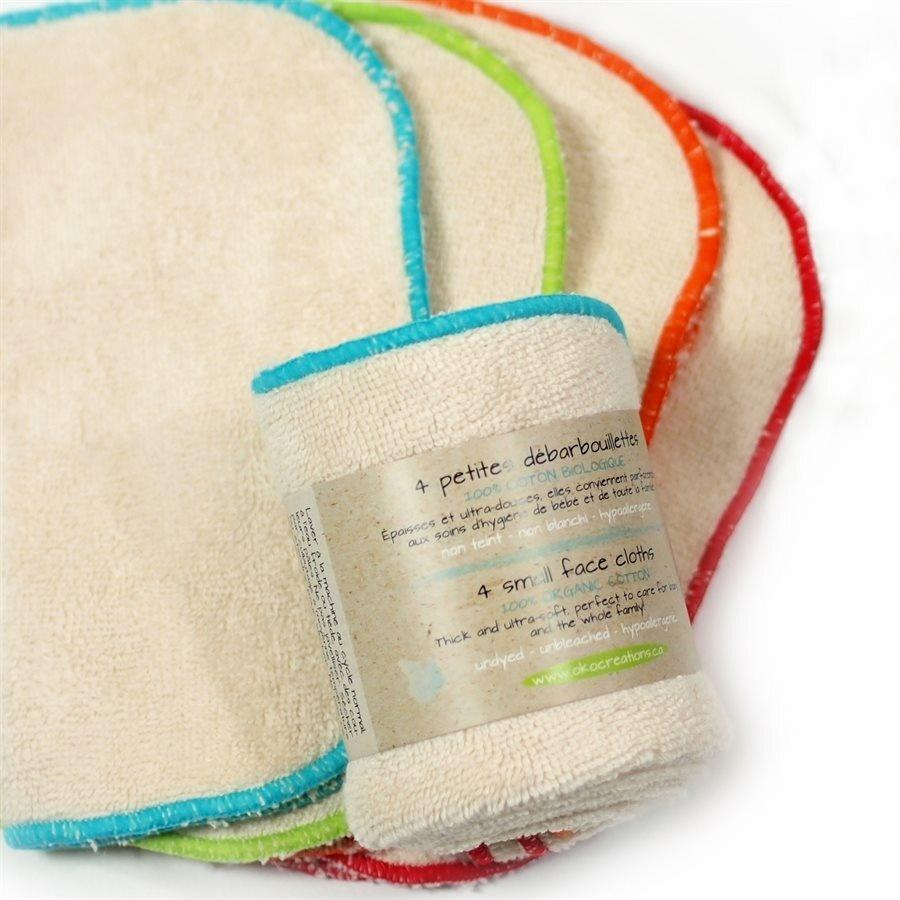 Small Organic Face Cloths (4 pk)-1