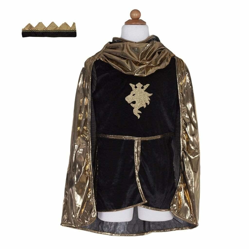 Gold Knight Tunic, Cape & Crown-1