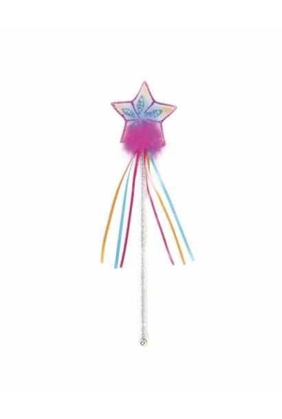 Glitter Rainbow Star Wand