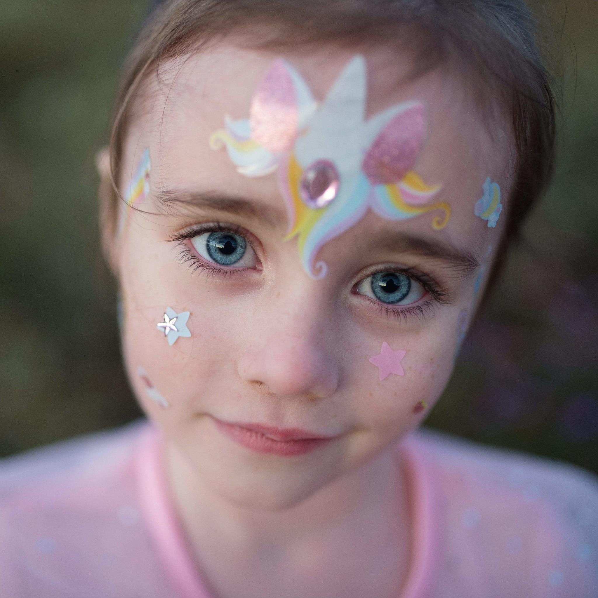 Unicorn Fairy Face Stickers-4