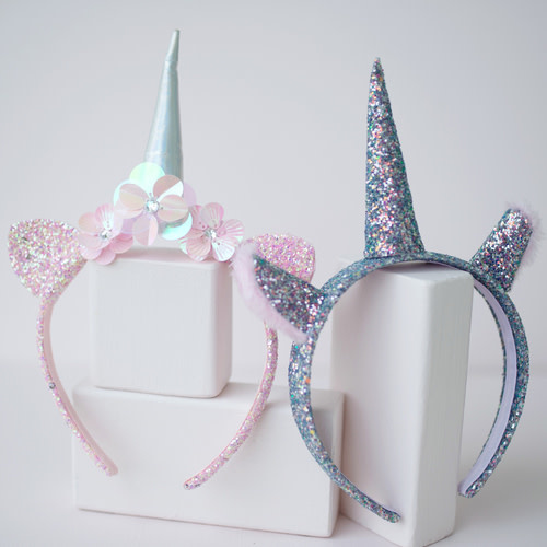 Get Glitter Unicorn Headband-1